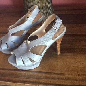 Nine West stiletto platform leather 6.5 nwhiala